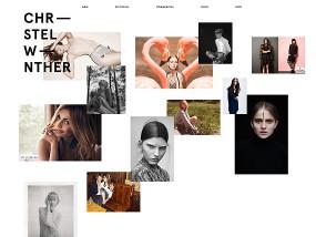 ウェブデザインサンプル Stylist Christel Winther