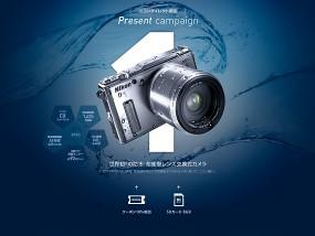 ウェブデザインサンプル Nikon 1 AW1