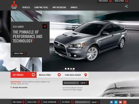 ウェブデザインサンプル Mitsubishi Motors