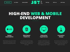 ウェブデザインサンプル Joy Interactive