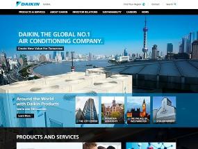 ウェブデザインサンプル Daikin Global