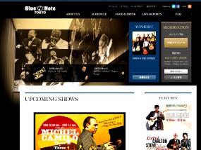 BLUE NOTE TOKYO ウェブデザインサンプル