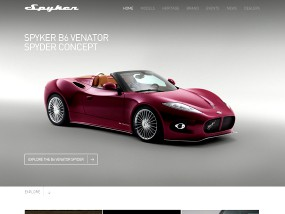 Spykercars ウェブデザインサンプル